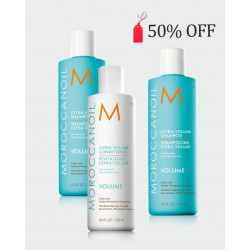 Moroccan Oil Bundle Offer 50% OFF second bottle of shampoo- Extra Volume Shampoo x 2 + Conditioner