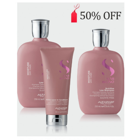 Alfaparf Bundle Offer 50% OFF a second bottle of shampoo- Moisture- Nutritive Shampoo x 2 + Conditioner